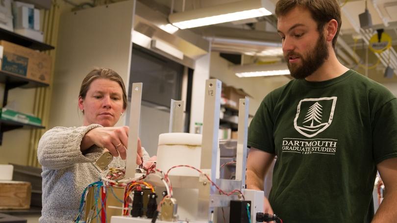 Robyn Millan, Associate Professor of Physics and Graduate Student Brett Rudy Anderson