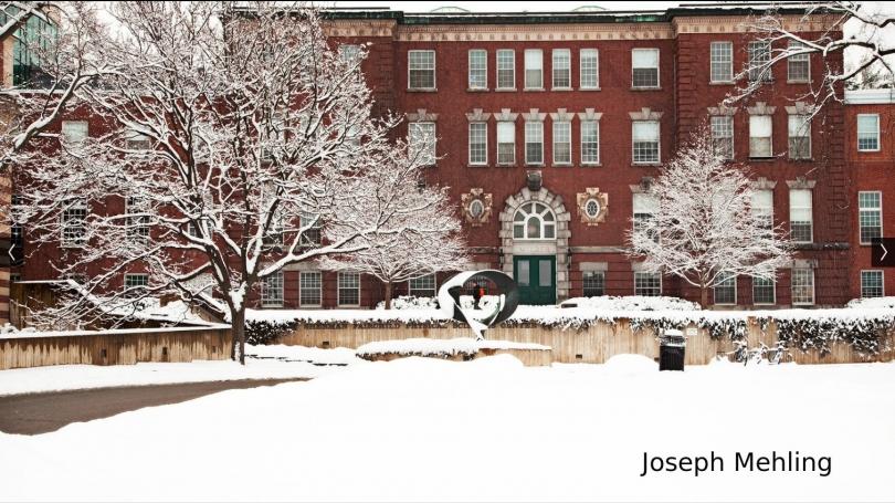 Wilder Hall on a Snowy Morning